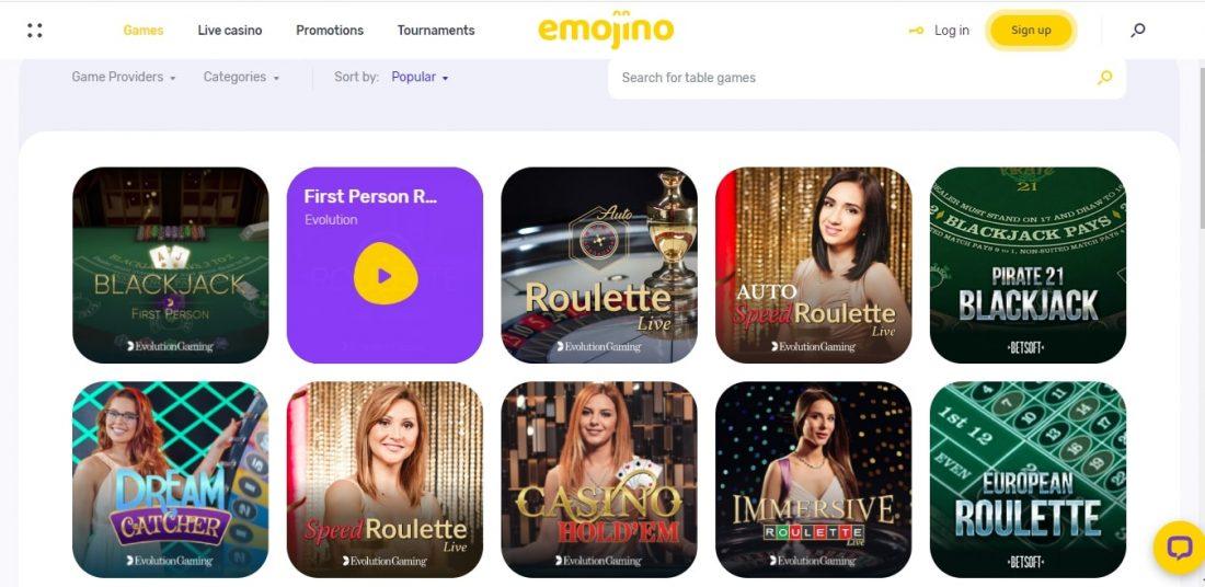 Emojino Table Games