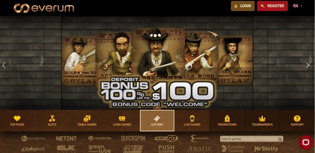 Everum Casino Welcome Bonus