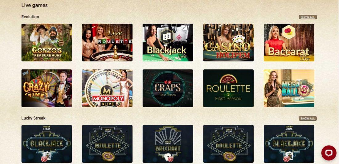 Everum Live Casino
