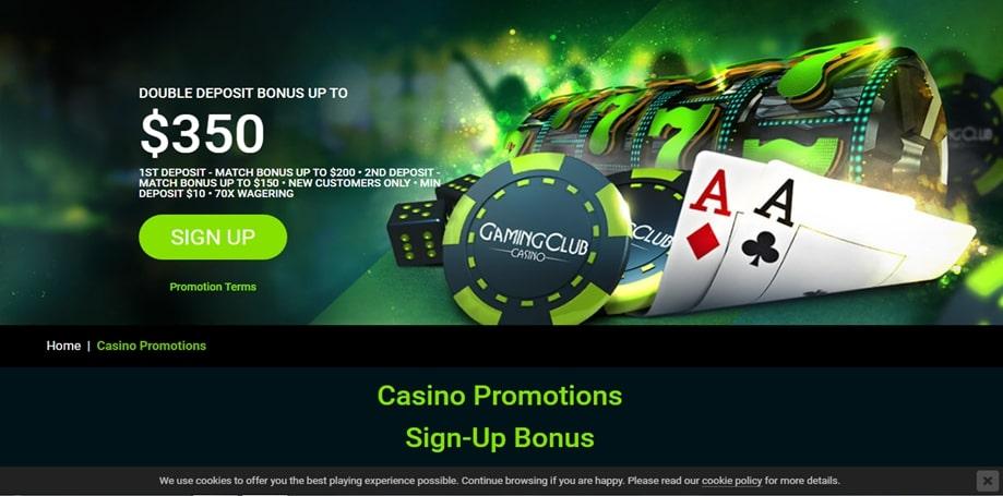 Gaming Club Casino Welcome Bonus