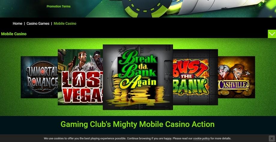 Gaming Club Mobile App