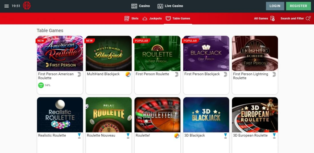 Genting Casino Table Games
