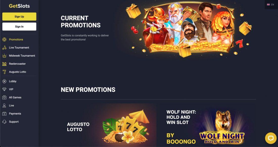 GetSlots Casino Promotions