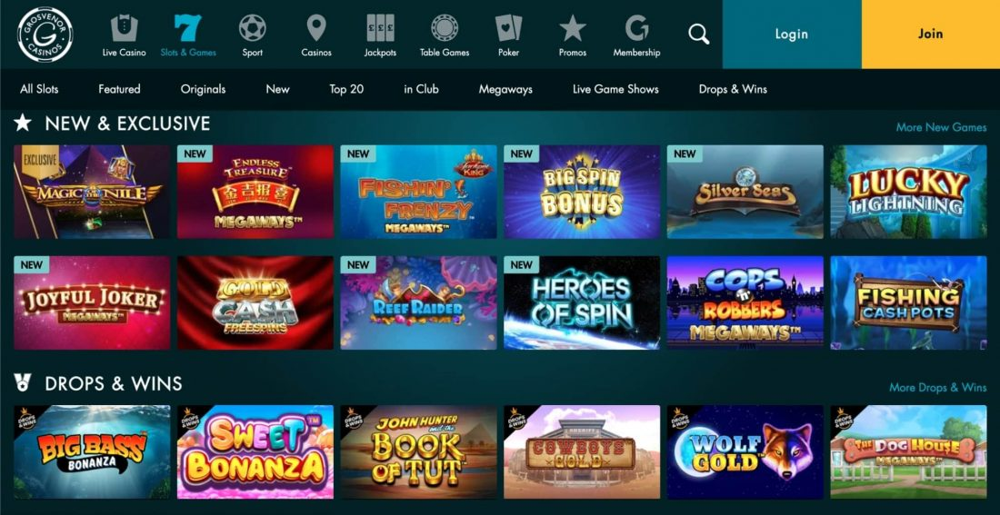 Grosvenor Casino Games