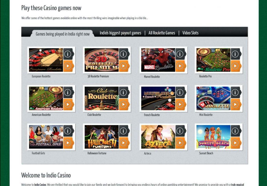 Indio Casino Games
