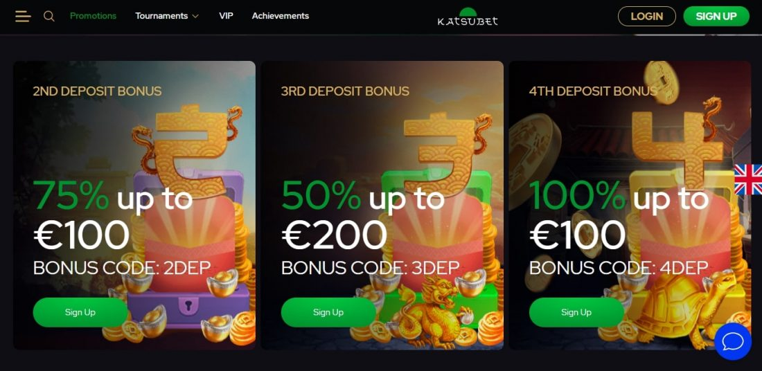 KatsuBet Casino Deposit Bonus