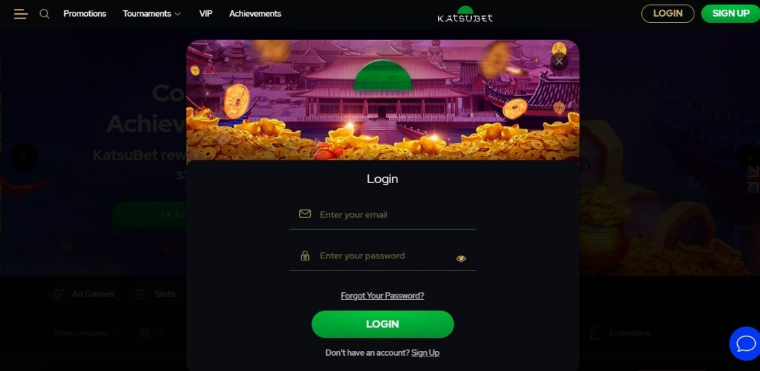 KatsuBet Casino Login Process
