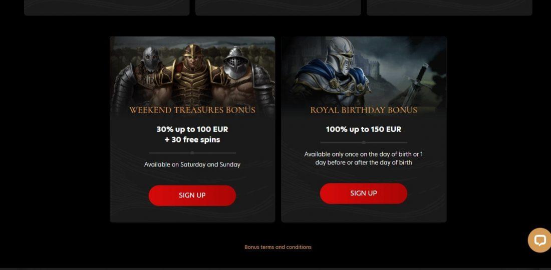 Kingdom Casino Bonuses
