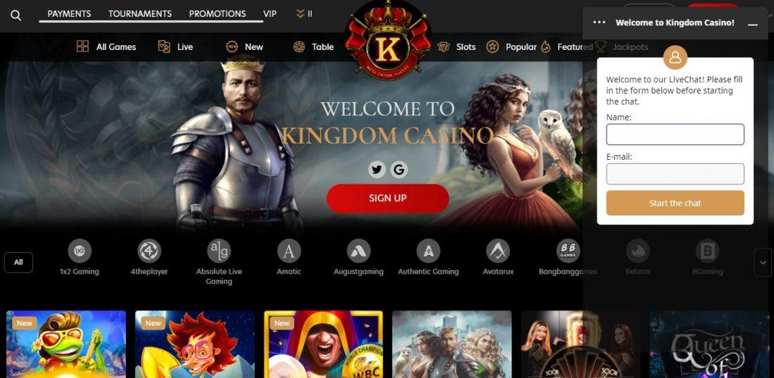 Kingdom Casino Customer Support