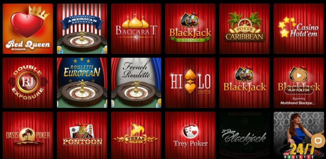 Kingdom Casino Video Poker and Table Games