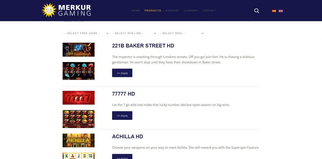 Merkur Games Provider