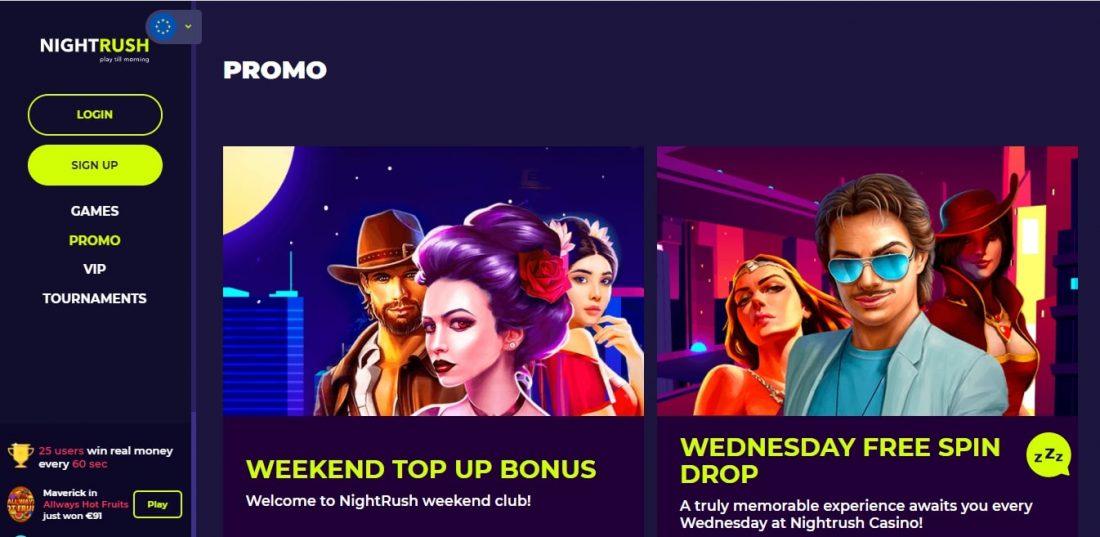 NightRush Casino Promo