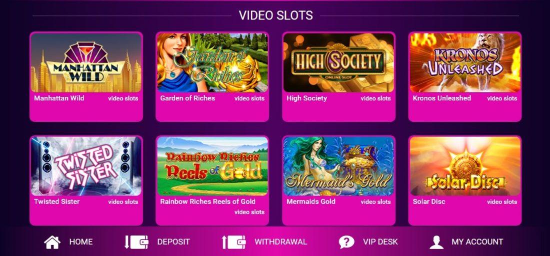 No Bonus Casino Video Slots