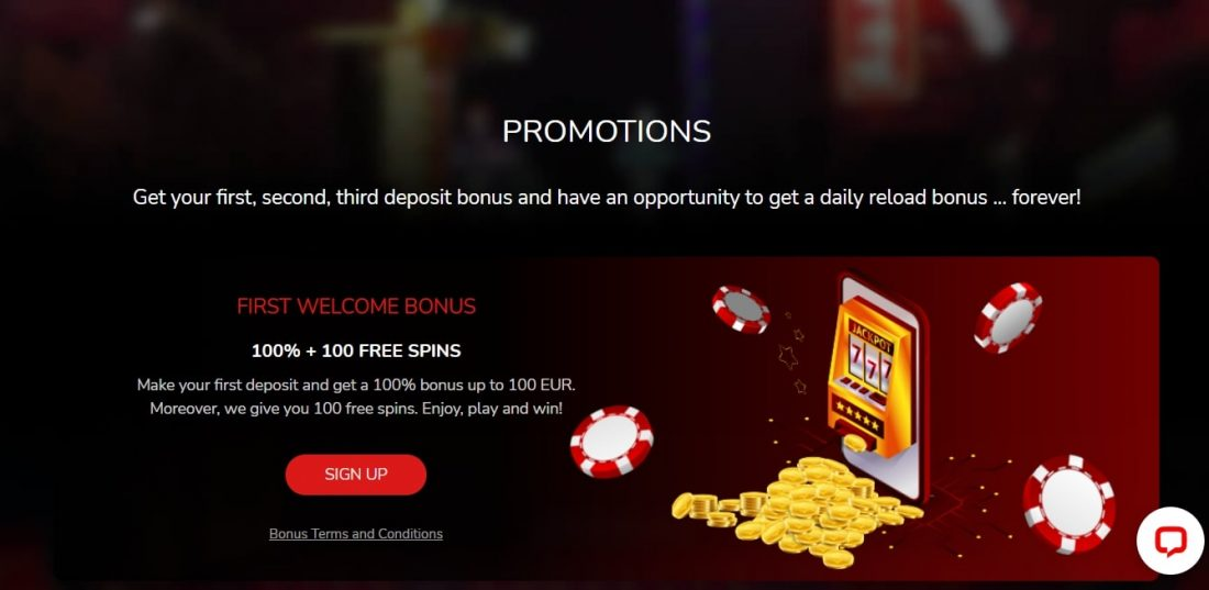 Oshi Casino Free Spins