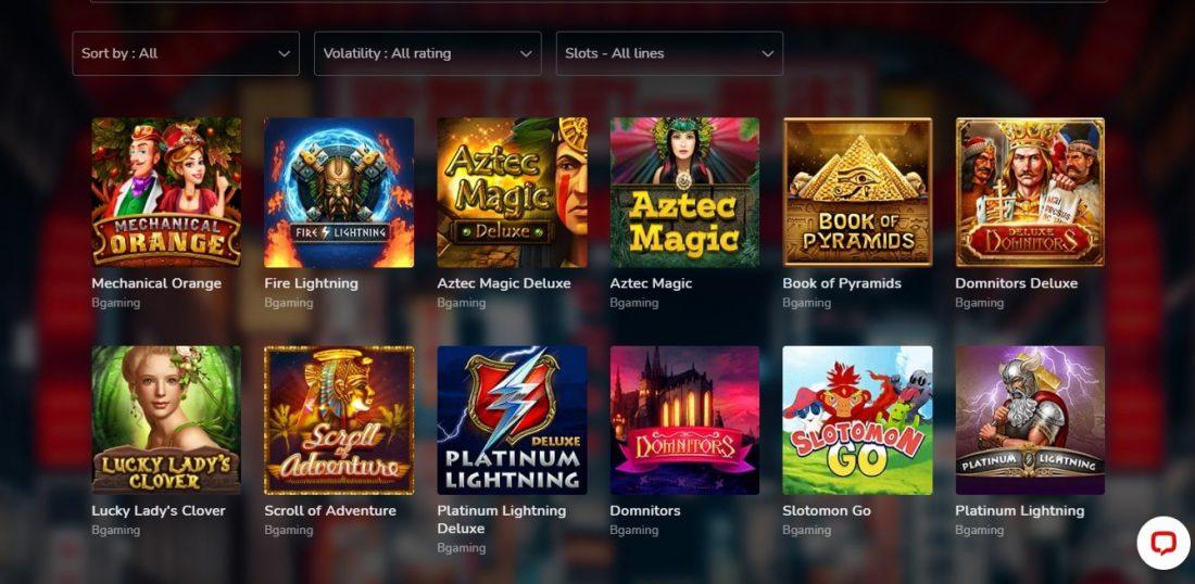 Oshi Casino Video Slots