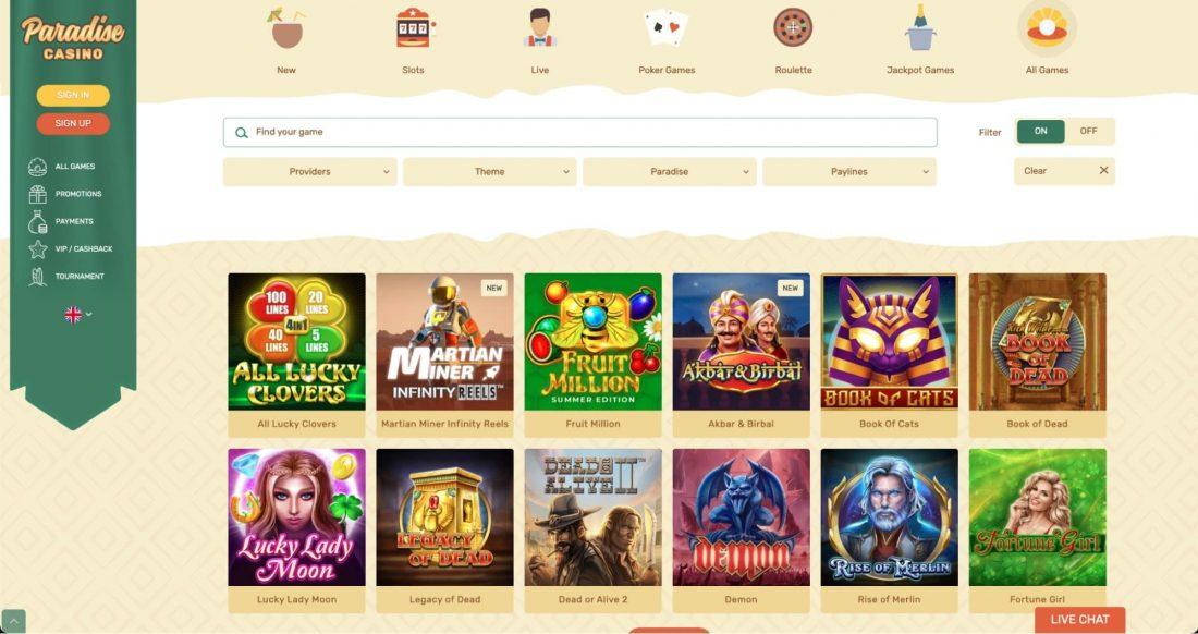 Paradise Casino Games