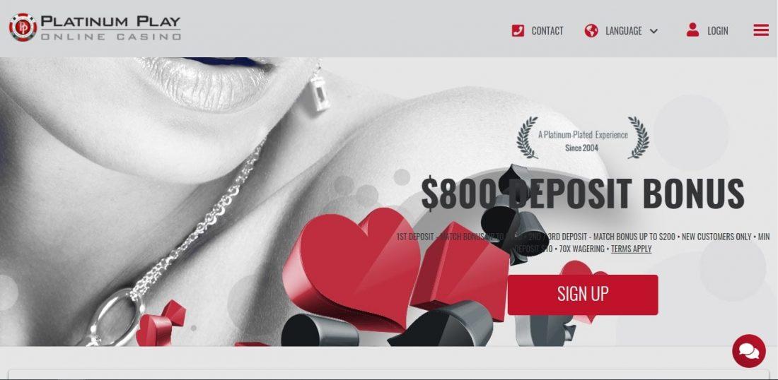 Platinum Play Casino Bonuses