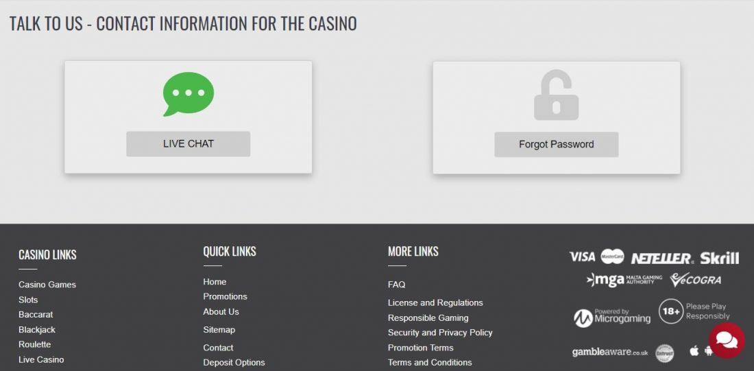Platinum Play Casino Customer Support