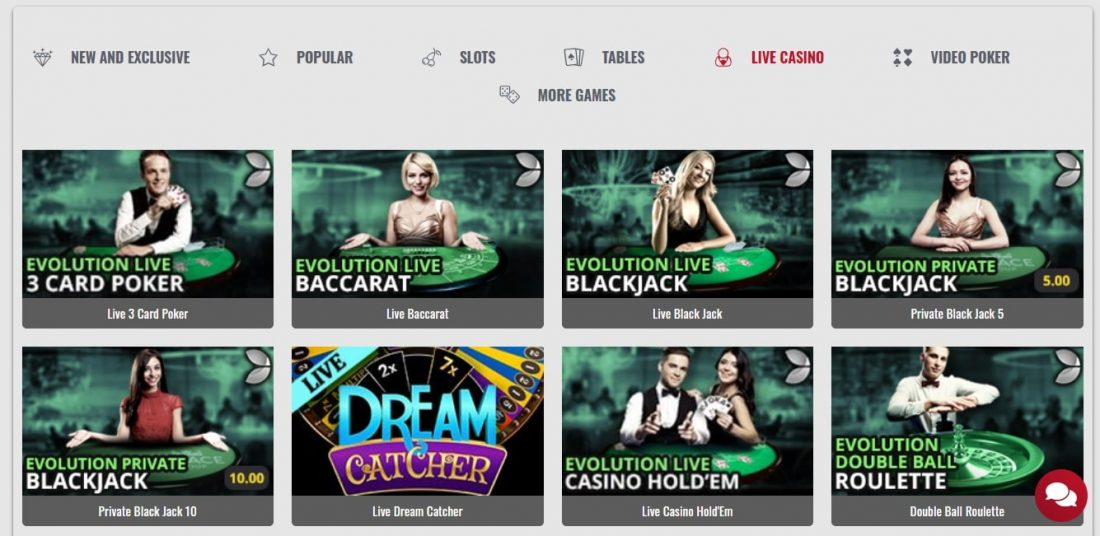 Platinum Play Casino Live Games