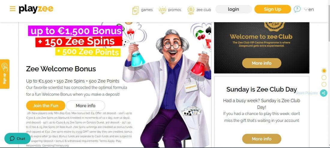 PlayZee Casino Bonuses