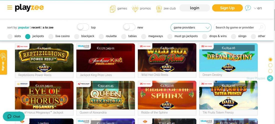 PlayZee Casino Games