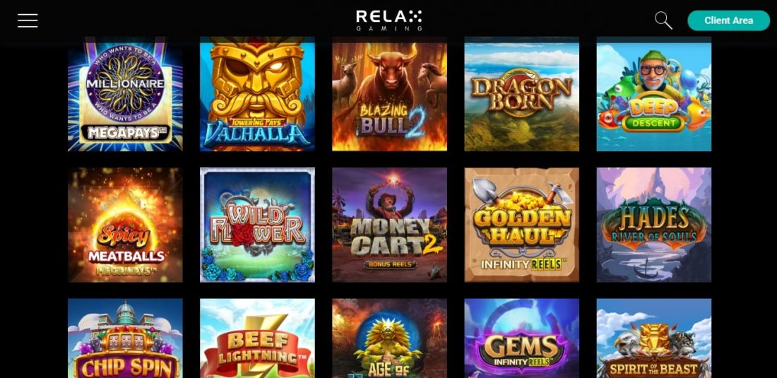 Relax Gaming Games