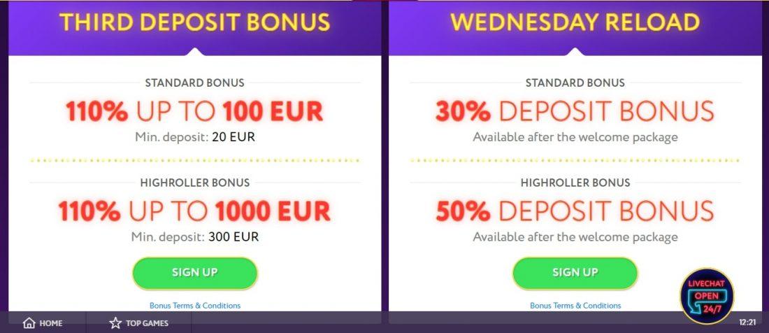 SlotWolf Casino Bonuses
