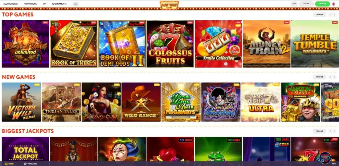 SlotWolf Casino Games