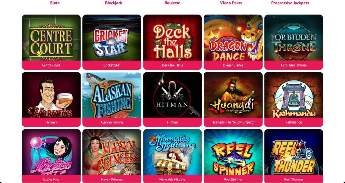 Spin Palace Casino Games