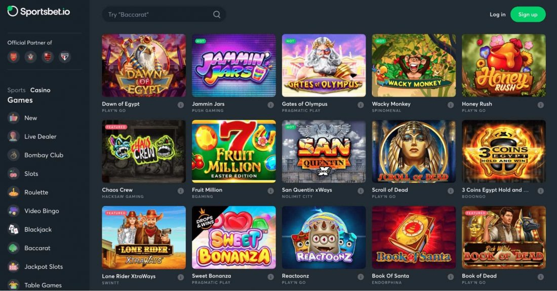 Sportsbet Casino Games