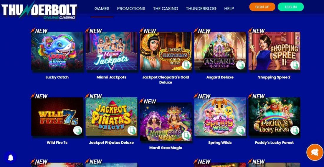 Thunderbolt Casino Games