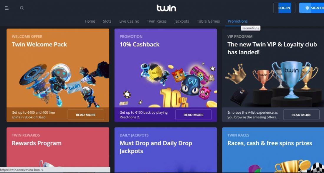 Twin Casino Welcome Bonus