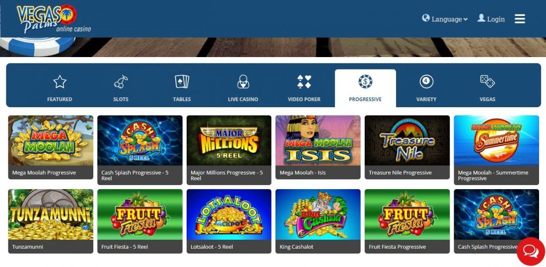 Vegas Palms Casino Progressive