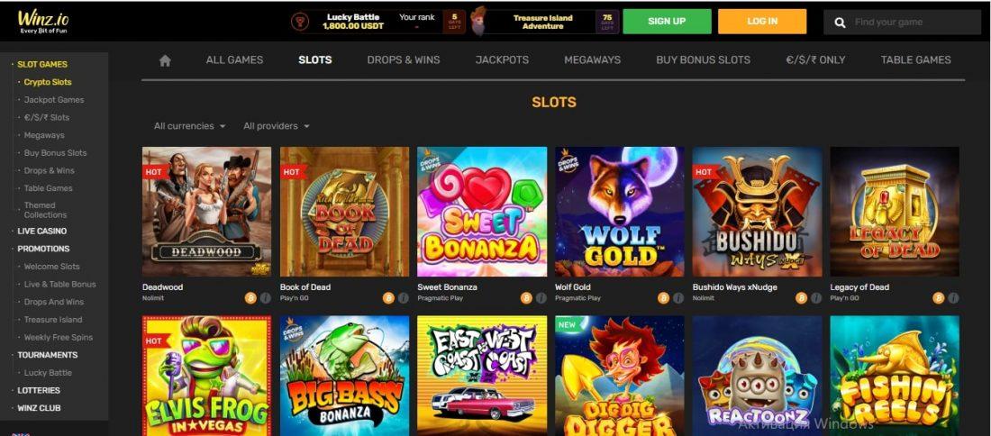 Winz.io Casino Slot Games