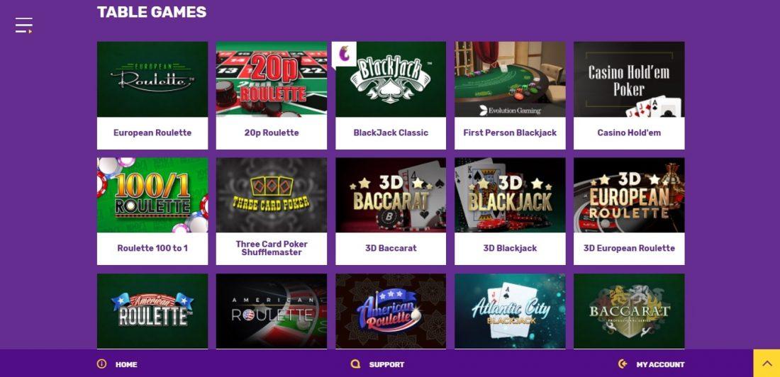 Yako Casino Table Games