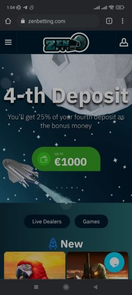 ZenBetting Casino Mobile App