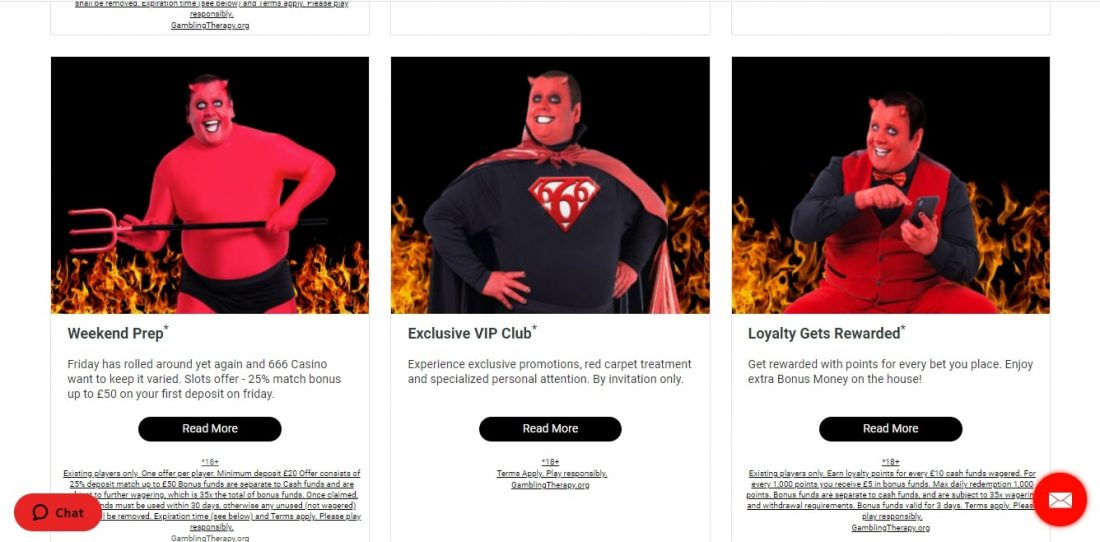 666 Casino Bonuses and Promotions