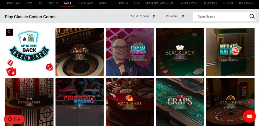 666 Casino Table Games