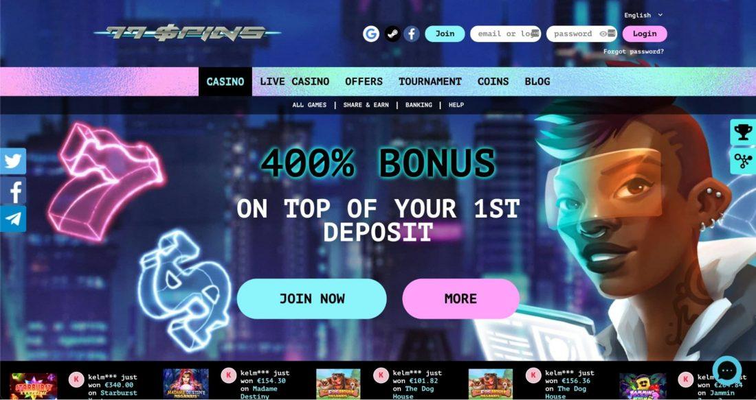 77Spins Casino