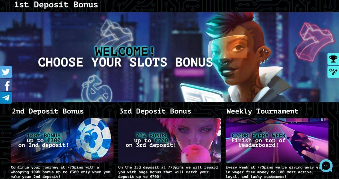 77Spins Casino Bonuses