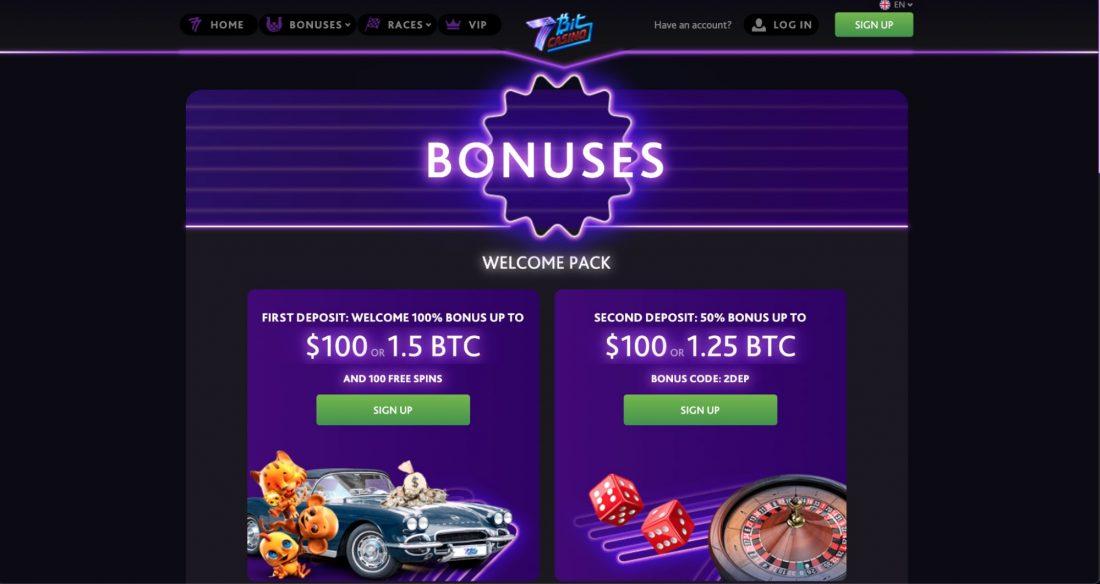 7bit online casino bonuses