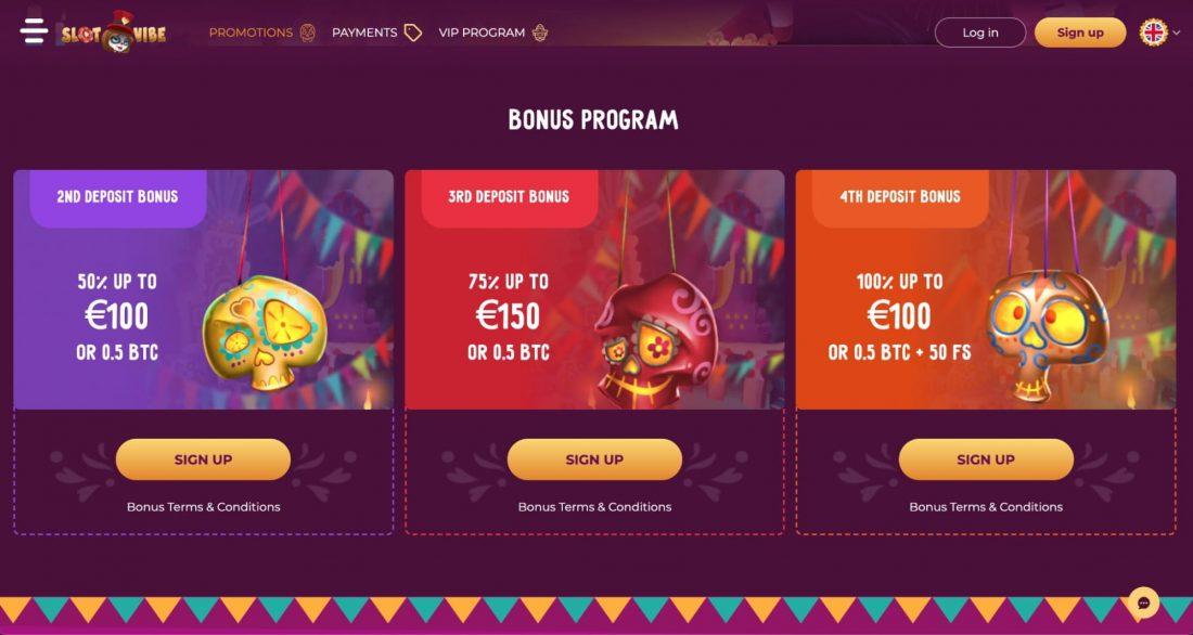 Slotvibe Casino welcome bonus