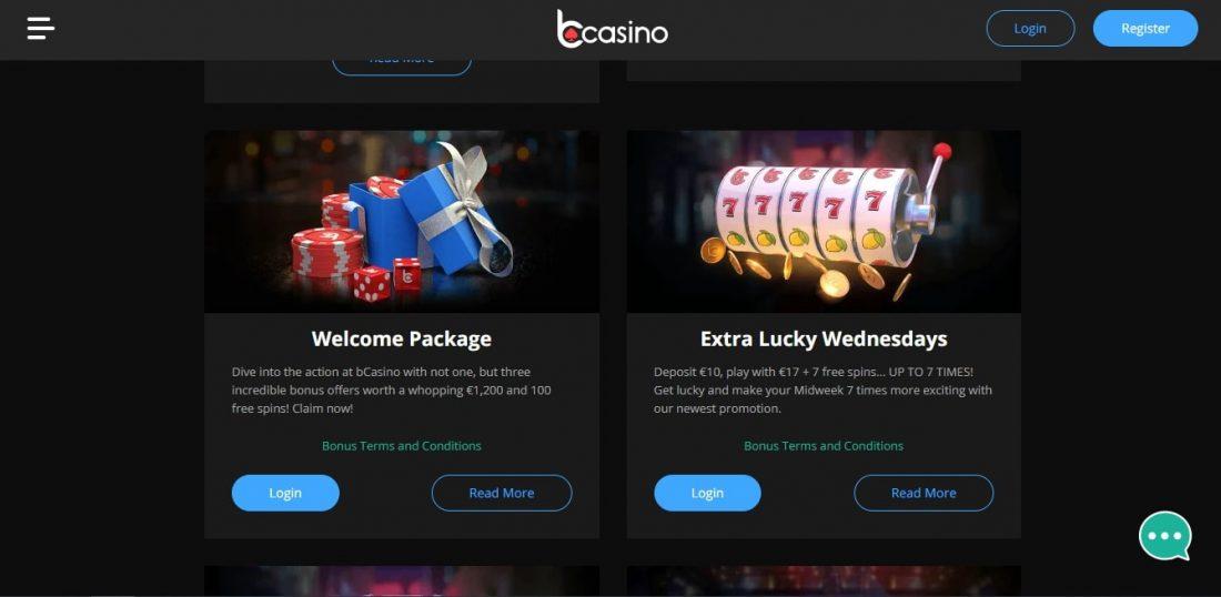 bCasino Welcome Bonus