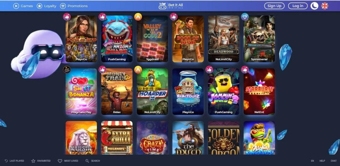 Bet it all casino games
