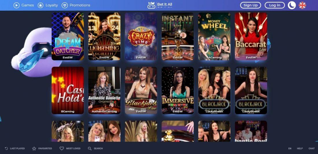 Bet it all live casino