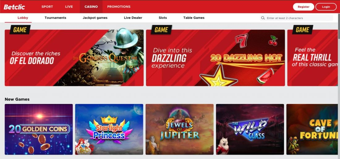 BetClic Casino Games