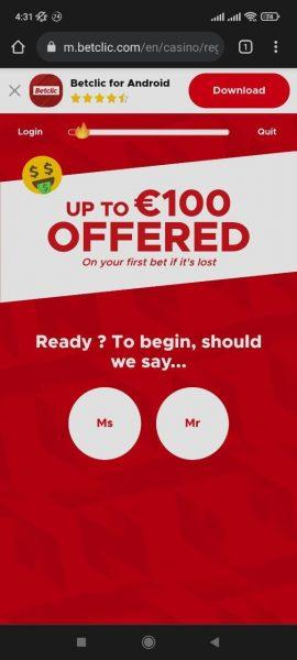 BetClic Casino Mobile App