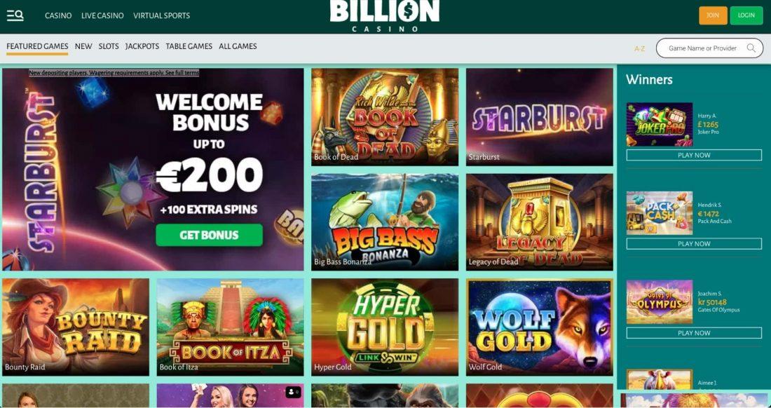 Billion Casino Games
