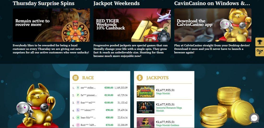 Calvin Casino Bonuses and Promotions