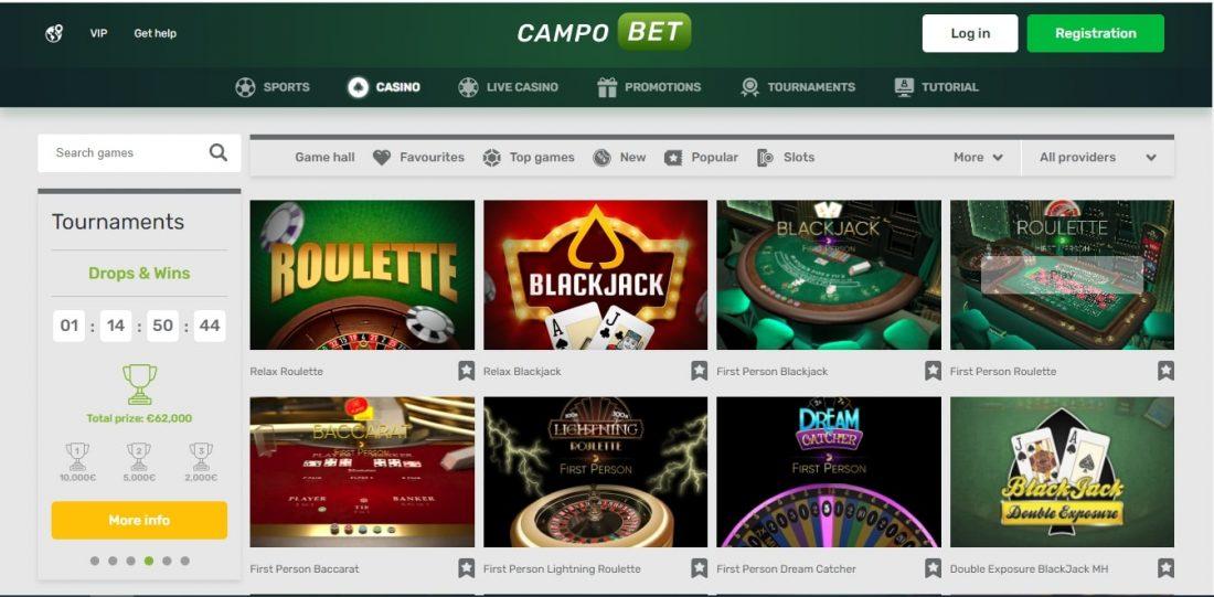 CampoBet Casino Table Games